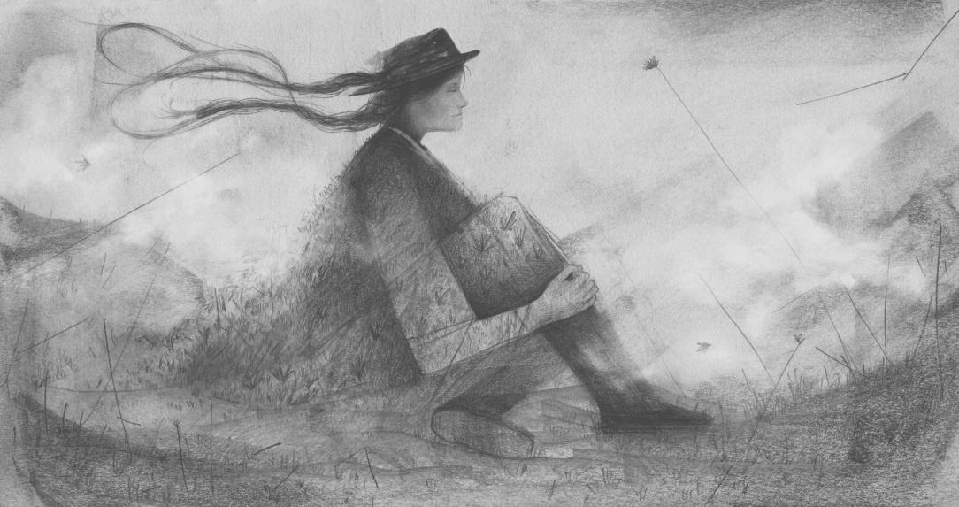Frio de Páramo/ lápiz de grafito y retoque digital/ Ilustración Geison Castañeda